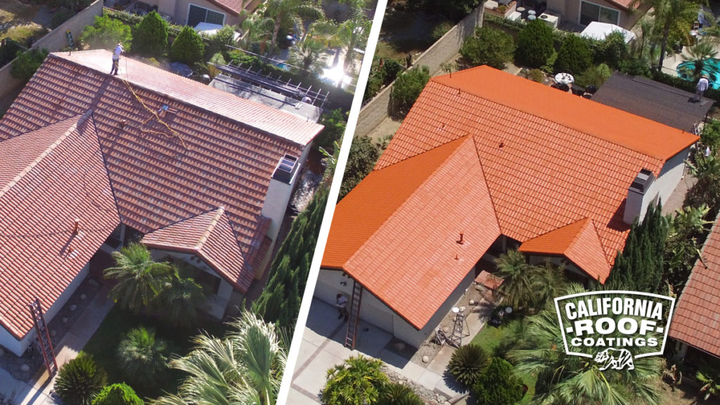 Concrete tile Malibu villa style - Duarte - Terrocotta Cool Coat