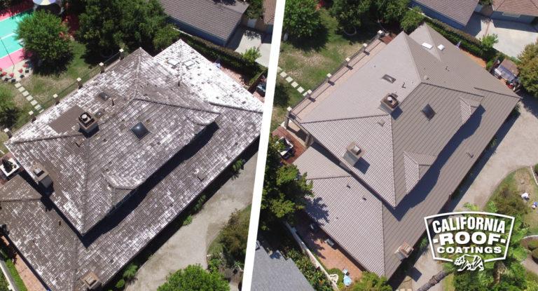Concrete Malibu villa style - Woodland Hills LA - Jasper Cool Coat - Before & After